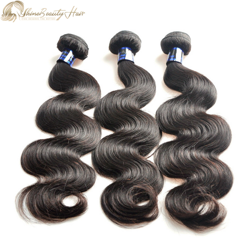 China Factory Direct High Quality Affordable Peruvian Hair Body Wave Hair Extensions 3pcs/lot Shine Beauty Hair Company Free Shipping