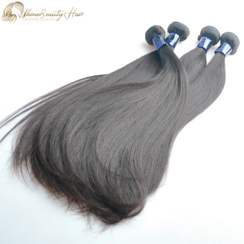 China Factory Direct Supplier High Quality Peruvian Hair Weaving Silky Straight Wave 4pcs/Lot Shine Beauty Hair Brand FedEx Free Shipping