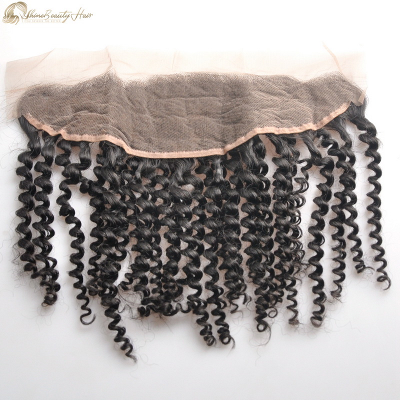 Shine Beauty Hair Factory Direct Supply Ear To Ear Frontal Kinky Curly 13x4 Lace Closure Frontal Wholesale Price Free FedEx Express Shipping