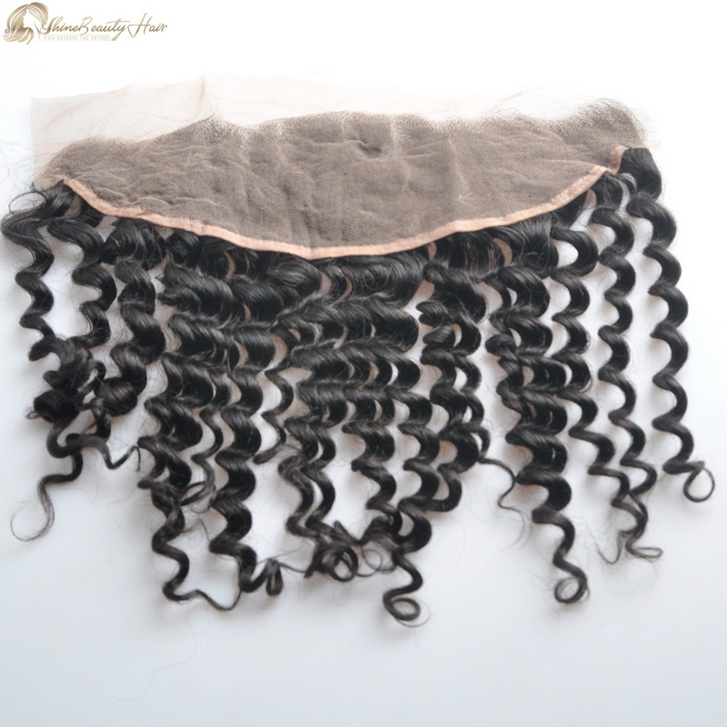 Fast Free Shipping Deep Wave Frontal Human Hair 13x4 Lace Frontal Factory Direct Supplier Shine Beauty Hair Company Wholesale Price