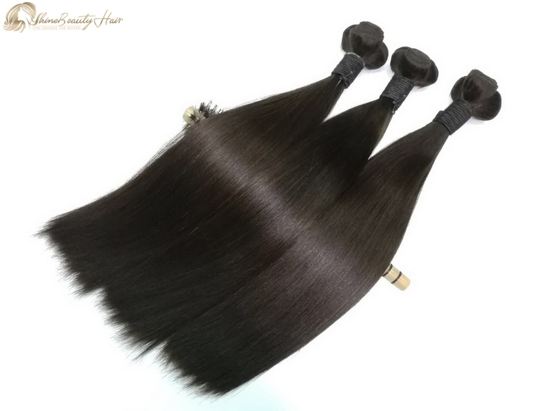 Shine Beauty Hair Brand China Hair Supplier Hair Weaving Double Drawn Silky Straight Hair Extension Bundles 3pcs/lot Wholesale Price Free Shipping