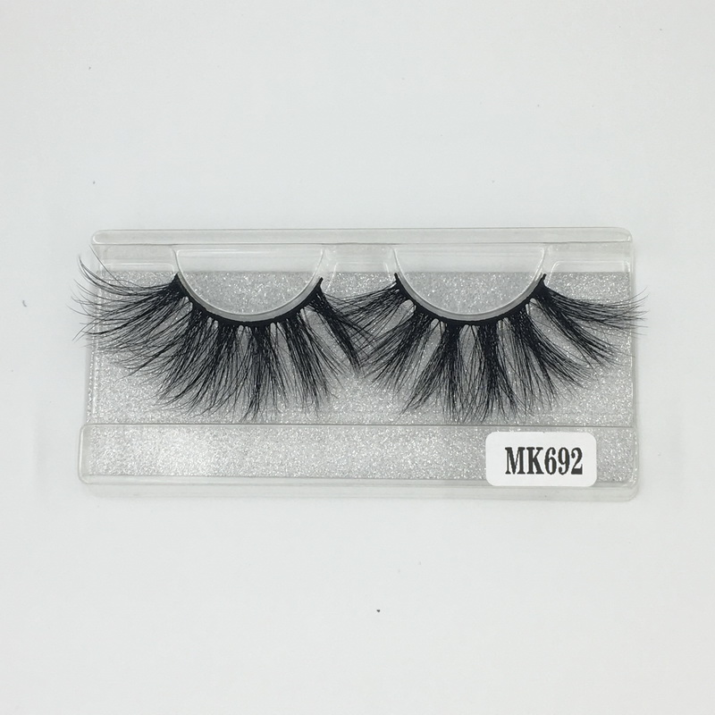 Affordable Factory Wholesale Price Long Lasting 25 mm Mink Individual Lashes No.692 Shine Beauty Hair Company