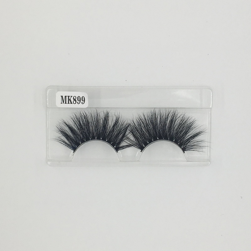 FedEx Express Free Shipping 3D Mink False Individual 25mm Eyelashes Extension Long Lasting No.899 Shine Beauty Hair Brand