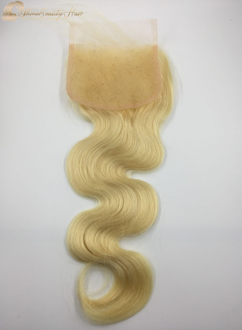 Shine Beauty Hair Brand 4x4 613 Body Wave Lace Closure 1pc China Factory Direct Fast Free Shipping
