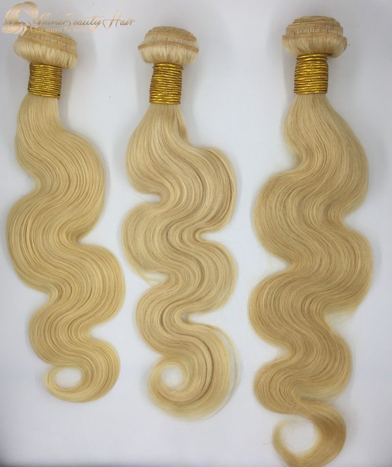 Shine Beauty Hair China Supplier Color 613 Body Wave Bundles 3pcs/lot Brazilian Hair Wholesale Price Free Shipping