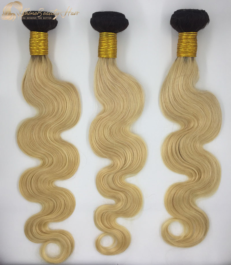 Shine Beauty Hair Brand Factory Direct Sale 1b613 body wave hair extensions 3pcs China Wholesale Price Fast Free Shipping