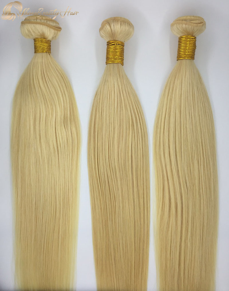 Shine Beauty Hair Company Blonde Straight 613 Hair Extensions Bundles 3Pcs/Lot China Factory Direct Wholesaler Fast Free Shipping
